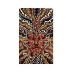 3D Bicycle Day Psychedelic Face Tapestry