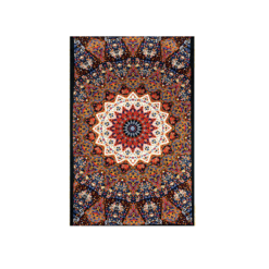 3D Earth Indian Star Mandala Tapestry